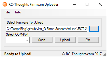 RCT Firmware Uploader – RC-Thoughts com